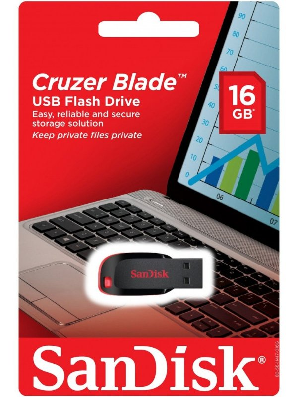 Pen Drive Sandisk Cruzer Blade 16GB