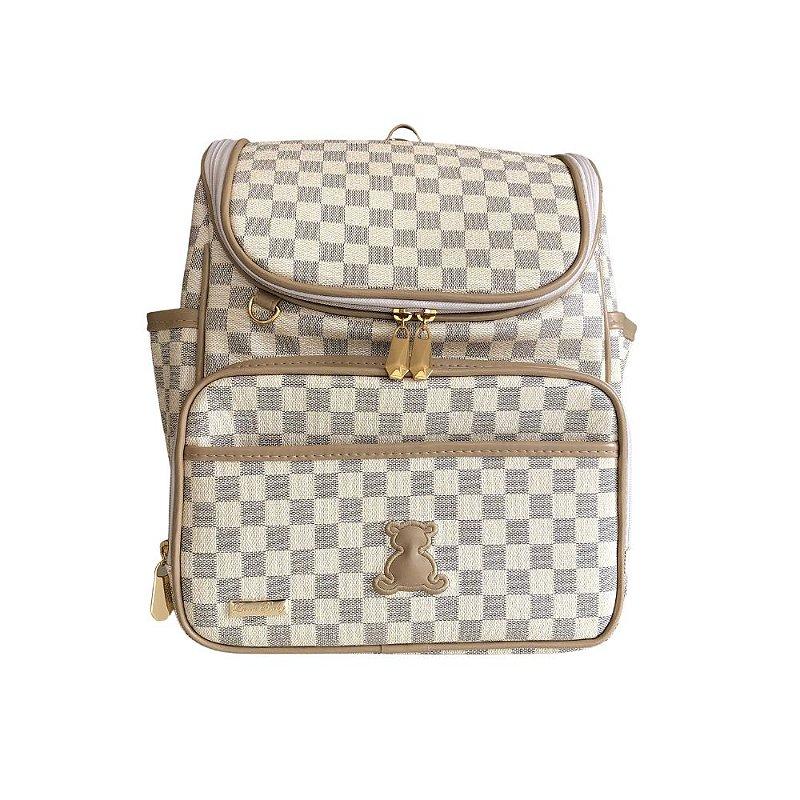 Mochila Maternidade Bag LV Bege