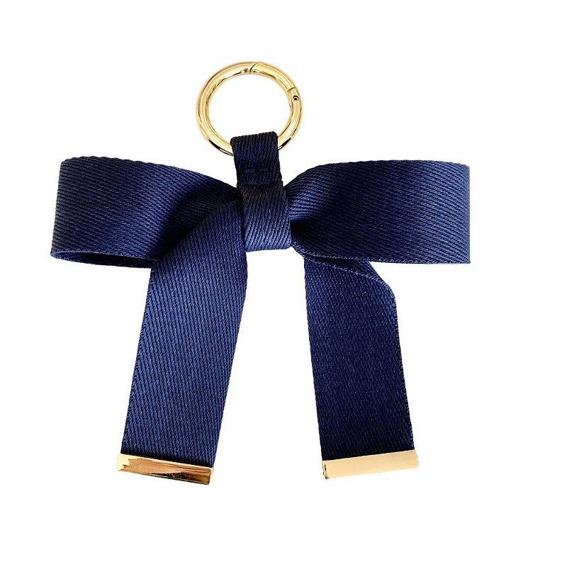 Chaveiro Laço de Fita Azul Marinho