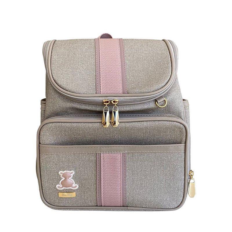 Mochila Maternidade Bag Mescla Bege