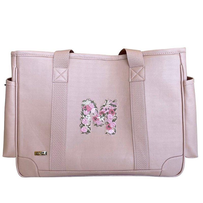 Bolsa Maternidade Lumy Rose Quartz - Inicial floral