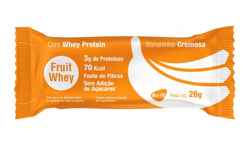 Fruit  Whey 3g Proteína - 3 Unid