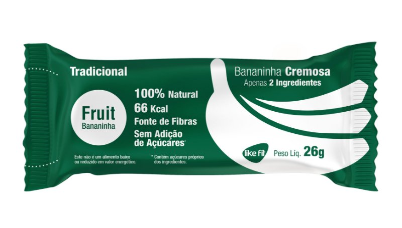 Fruit Banana 3g Proteína - 3 Unid