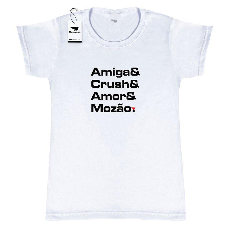 Camiseta Feminina, Amiga e Crush