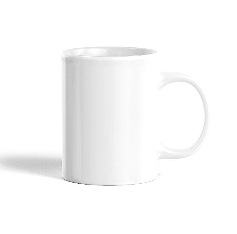 Caneca Branca, Cerâmica, 300ml - Darosaa
