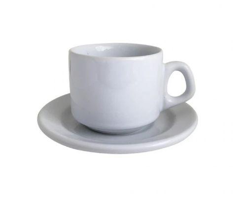 Xicara com Pires Cerâmica Personalizada 180ml - Darosaa