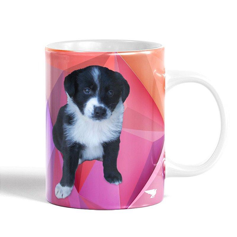 Caneca Branca Seu Pet Personalizada, Cerâmica, 300ml