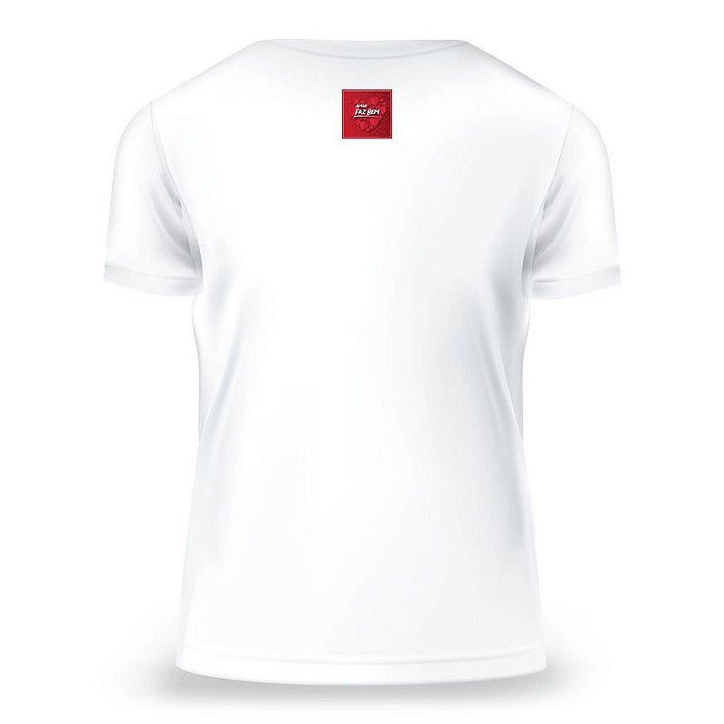Camiseta Baby Look Amar Faz Bem, Branca, Feminina