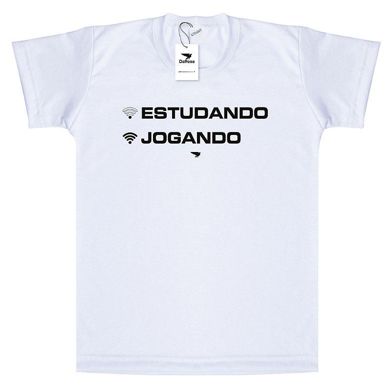Camiseta Darosaa Kids, Off Estudando On Jogando