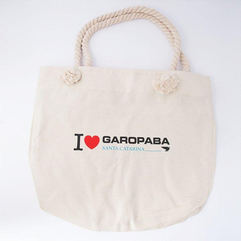 Bolsa Linho, I Love Garopaba