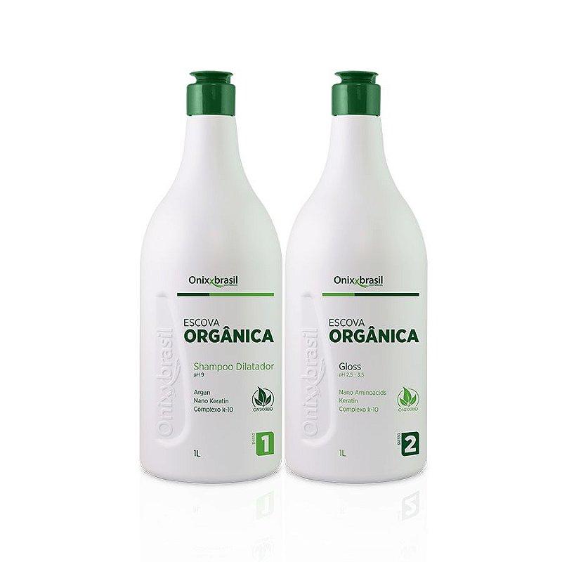 Escova Progressiva Orgânica ,Alisamento sem agressão aos fios e nem ao meio ambiente; produto extraídos de plantas e biodegradáveis, alisamento sem agressão aos fios, indicado para todos os tipos de cabelos