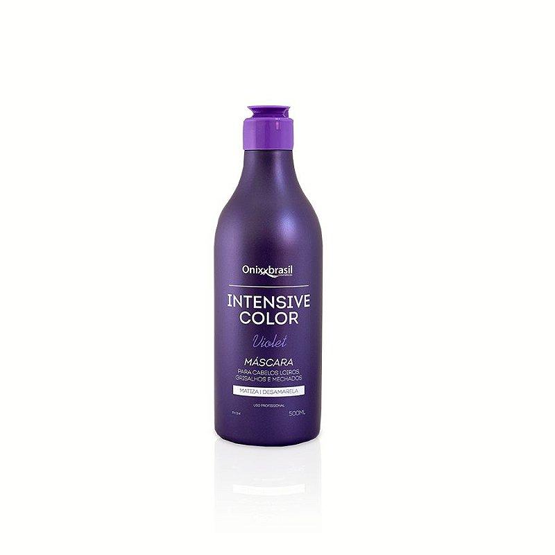 Intensive Color Violet, Super eficaz, desamartelador para cabelos loiros, grisalhos e com mechas e matiza.