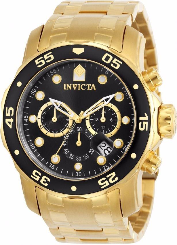 d66167a948f95 Relógio Masculino Invicta Pro Diver 0072 Ouro 18k - Mimports ...