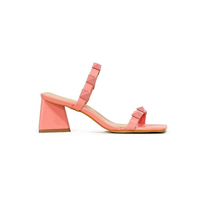Sandália Salto Prisma com Max Spikes