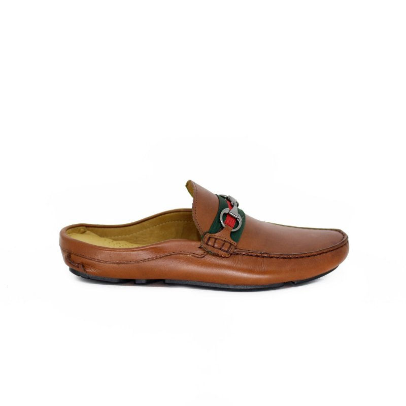 Sapato Mule com Gorgorão e Fivela