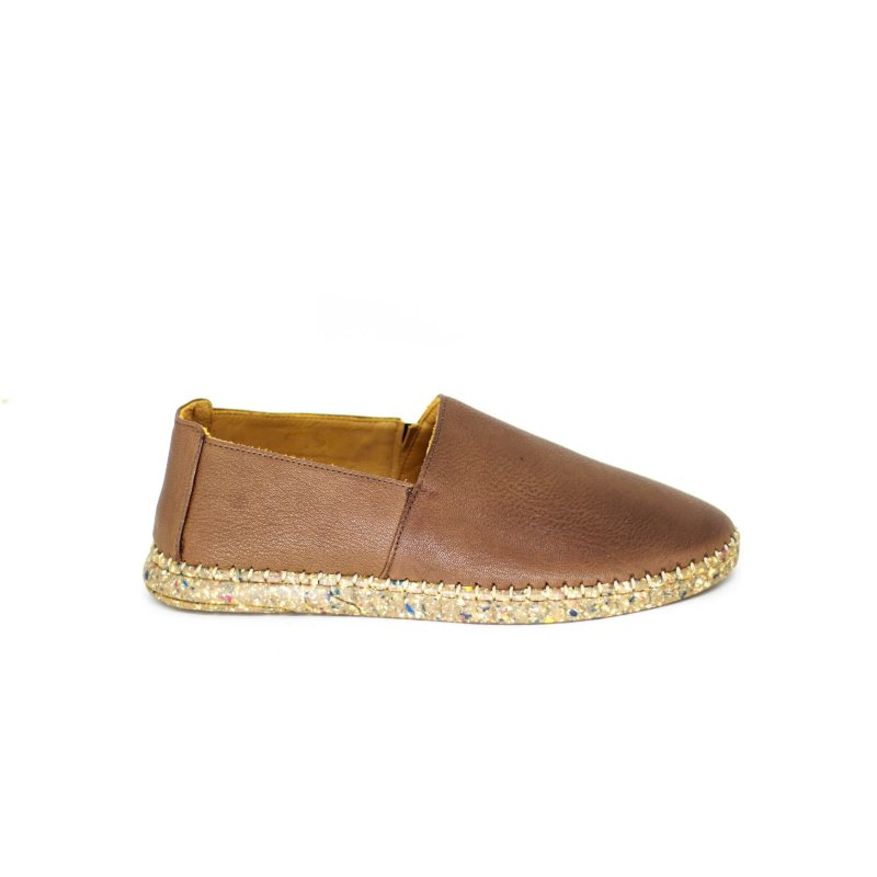Sapato de Couro Casual de Solado Reciclado