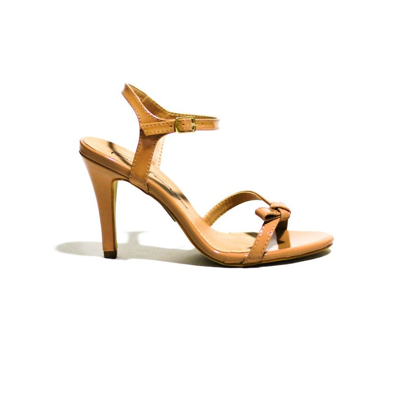 Sandália de Salto Alto com Detalhe de Laço Discreto