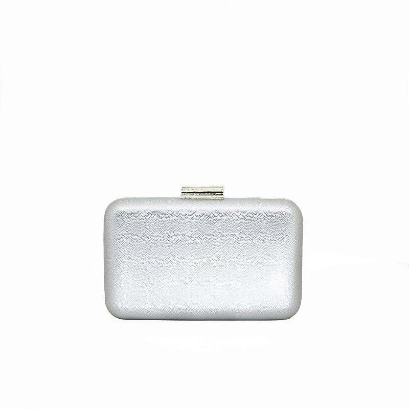 Bolsa Clutch Metalizada com Corrente