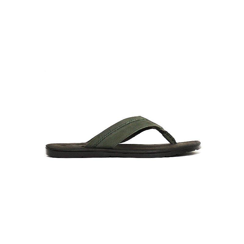 Sandália com Detalhe de Pesponto em Nobuck