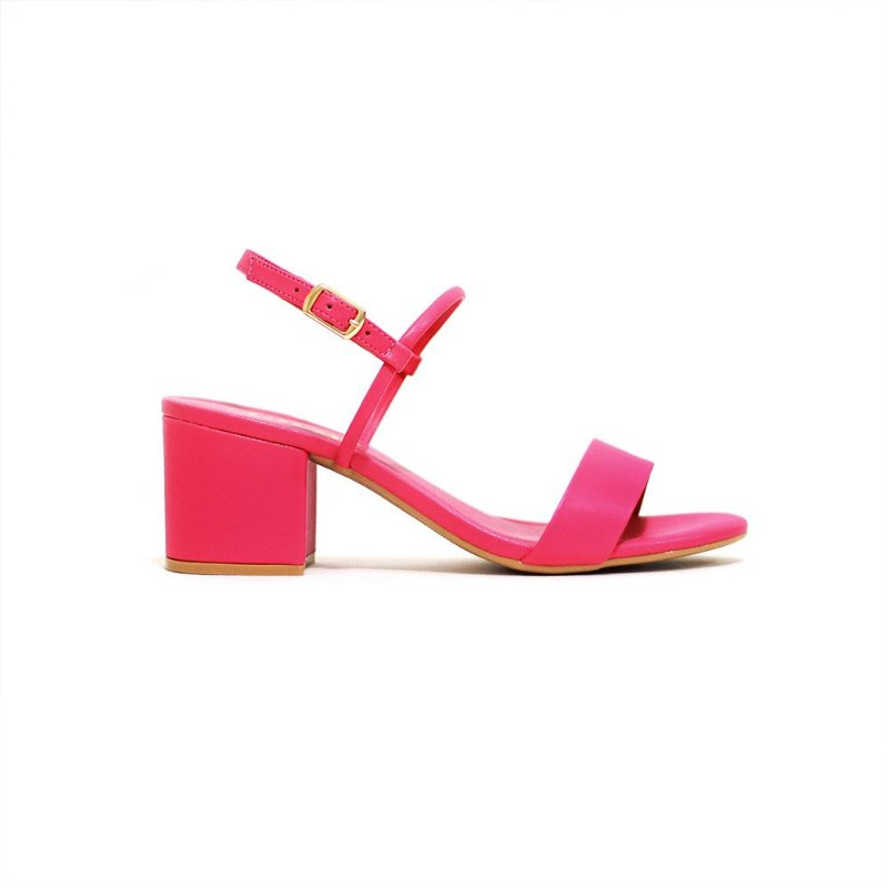Sandália Fargo Casual de Salto Bloco Pink