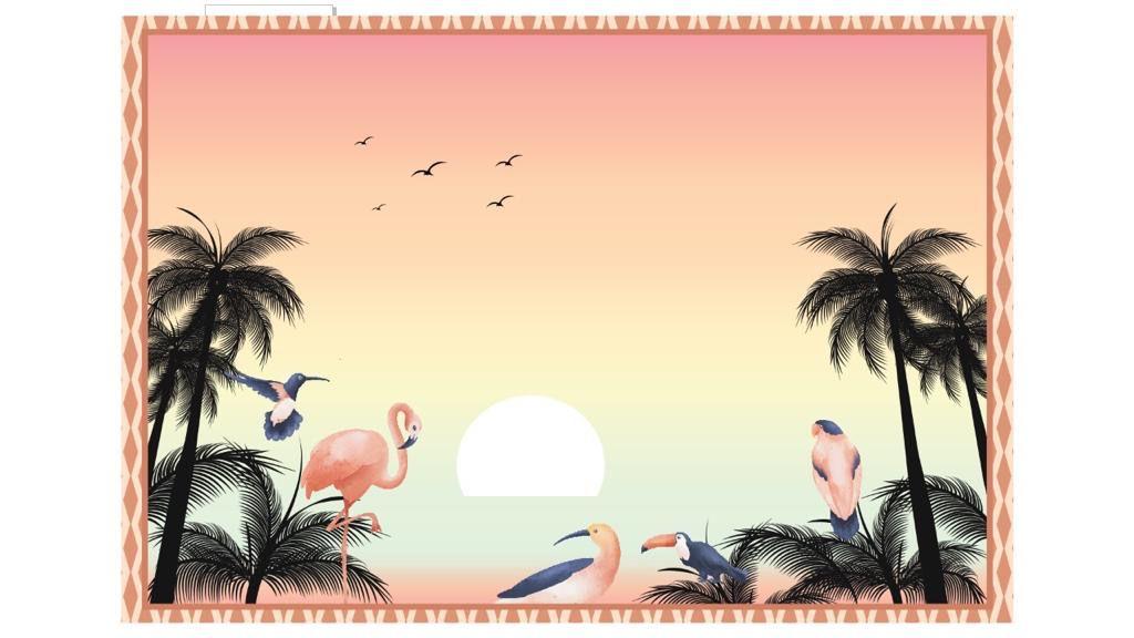 Pareô Mirtilo Beachwear - Summer Flamingo
