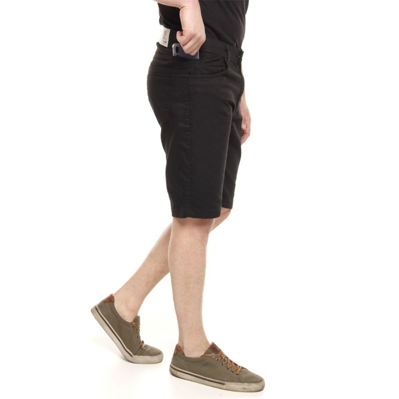 bermuda jeans prs preta amaciada