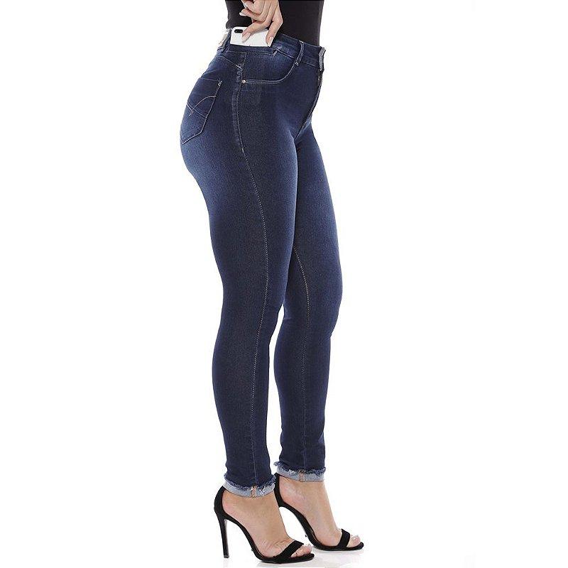 calça jeans prs skinny barra a fio
