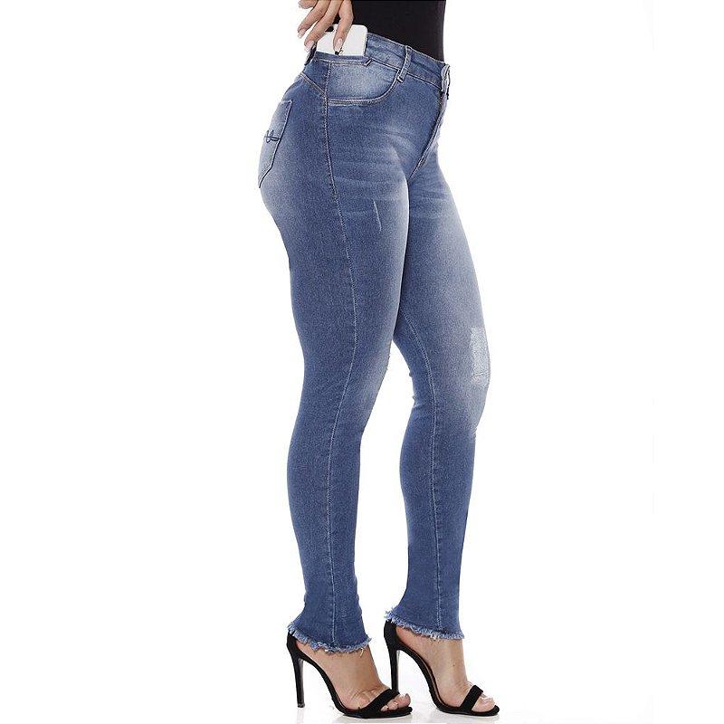 calça jeans prs skinny puídos