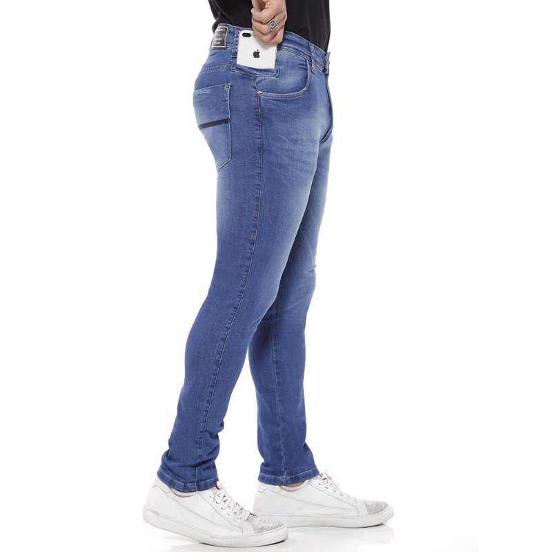 calça jeans prs super skinny laser