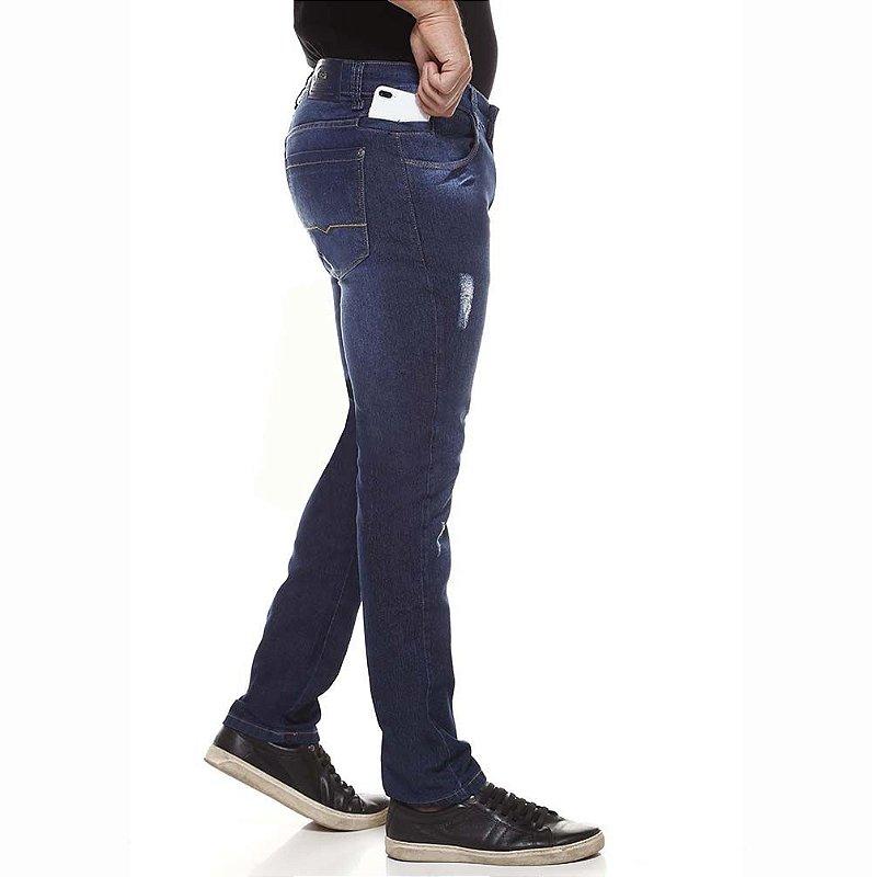 calça jeans prs skinny com rasgos