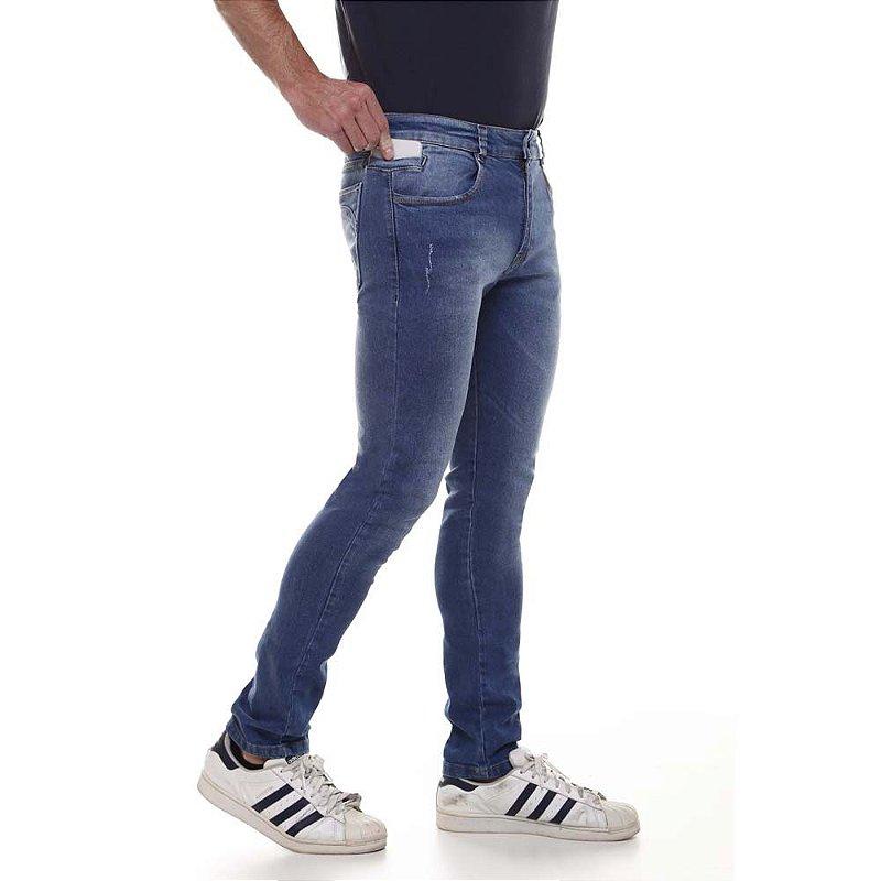 calça jeans prs skinny blue