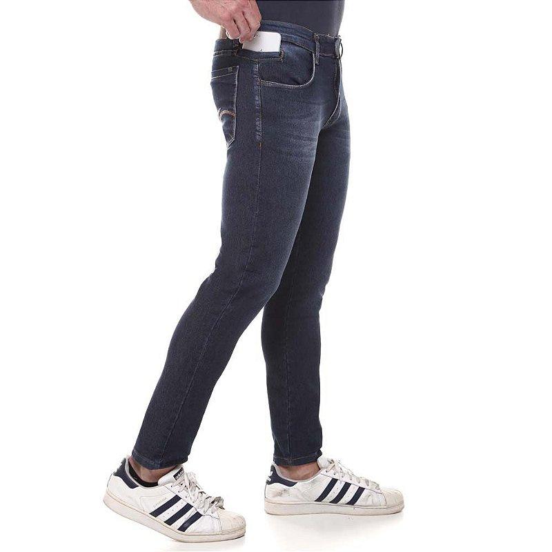calça jeans prs skinny escura