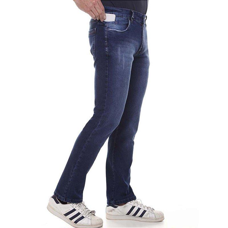 calça jeans prs comfort blue