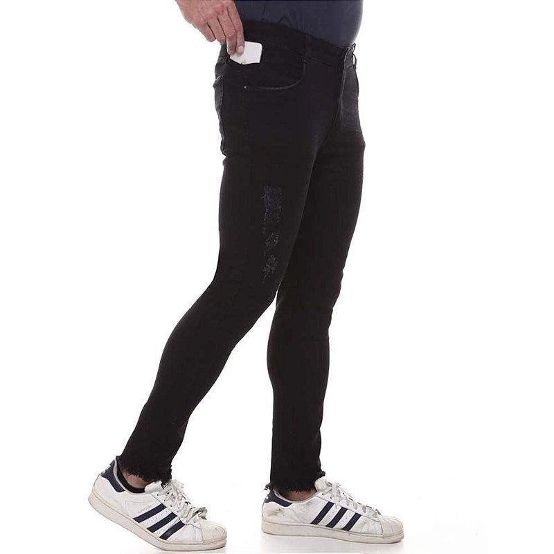 calça jeans prs super skinny preto