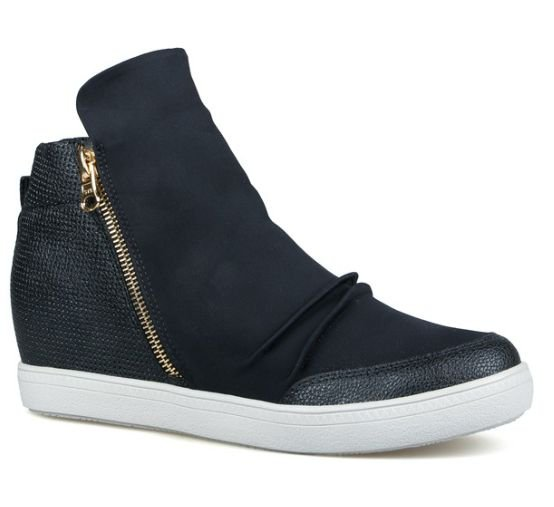 Sneaker Feminino Preto Rose - Neoprene