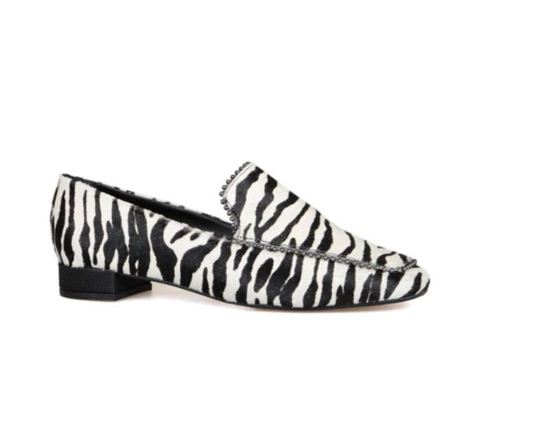Mocassim Feminino Zilda - Pêlo de Zebra
