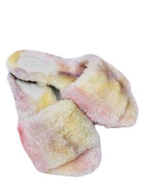 Pantufa Rasteira de Faixa Tie Dye de Pêlo