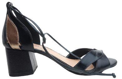 Sandália Salto Bloco Preta Vilma