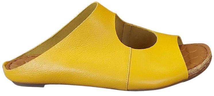 Rasteira Confort Amarela Cora