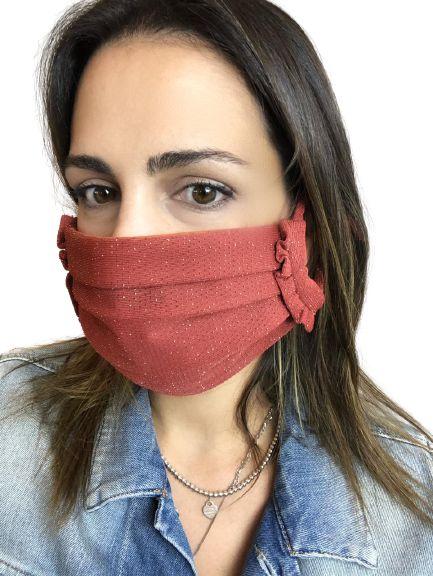 Máscara Terracota com Brilho