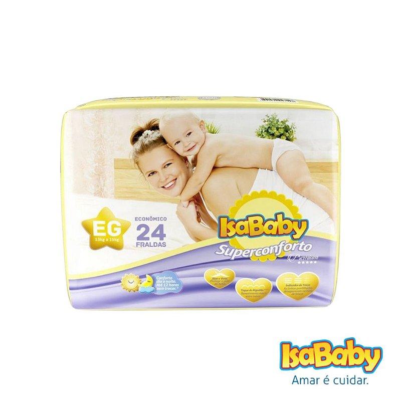 Fralda IsaBaby Premium Jumbo EG 24 Unidades (estampa personalizada)