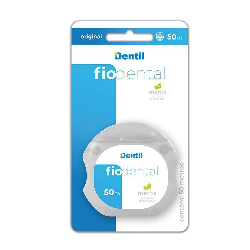 Fio Dental Dentil Original 50 metros sabor menta não desfia é macio