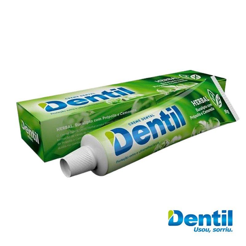 Creme Dental Dentil Herbal c/ Flúor 90g ( auxilia no mau hálito )