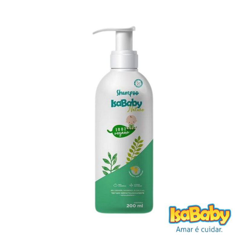 Shampoo IsaBaby Nature Sem Lágrimas 200ml ( Hipoalergênico )...
