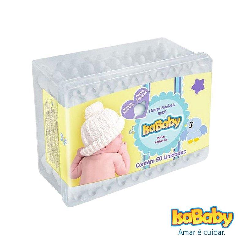 Haste Flexível IsaBaby Baby 50 Unidades ( pontas de algodão )....