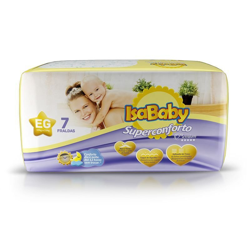 Fralda IsaBaby Premium Regular EG 07 Unidades (cheirinho delicioso)
