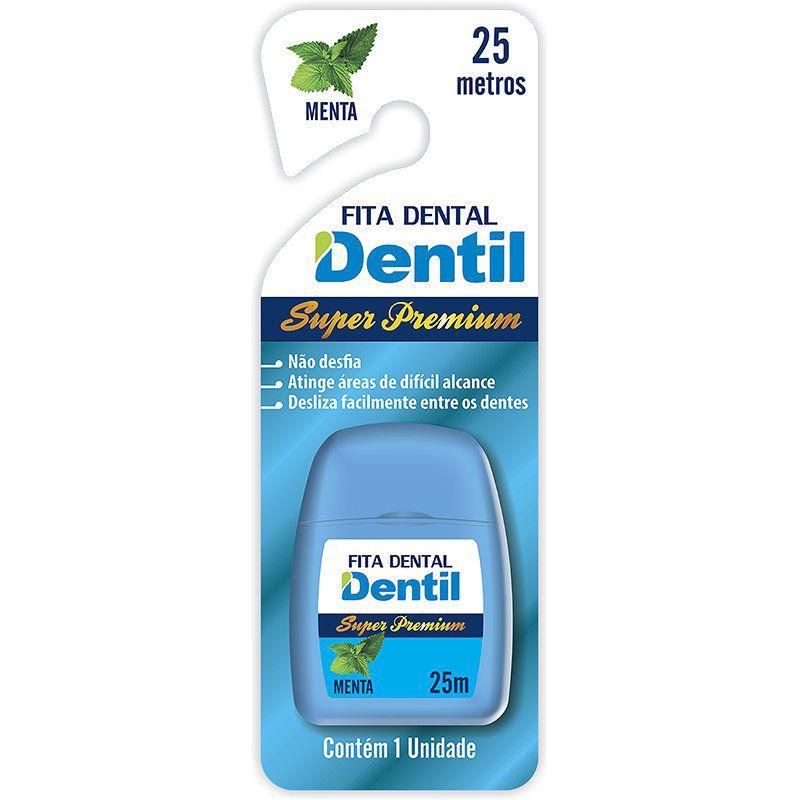 Fita Dental Dentil Super Premium 25 metros agradável sabor de menta