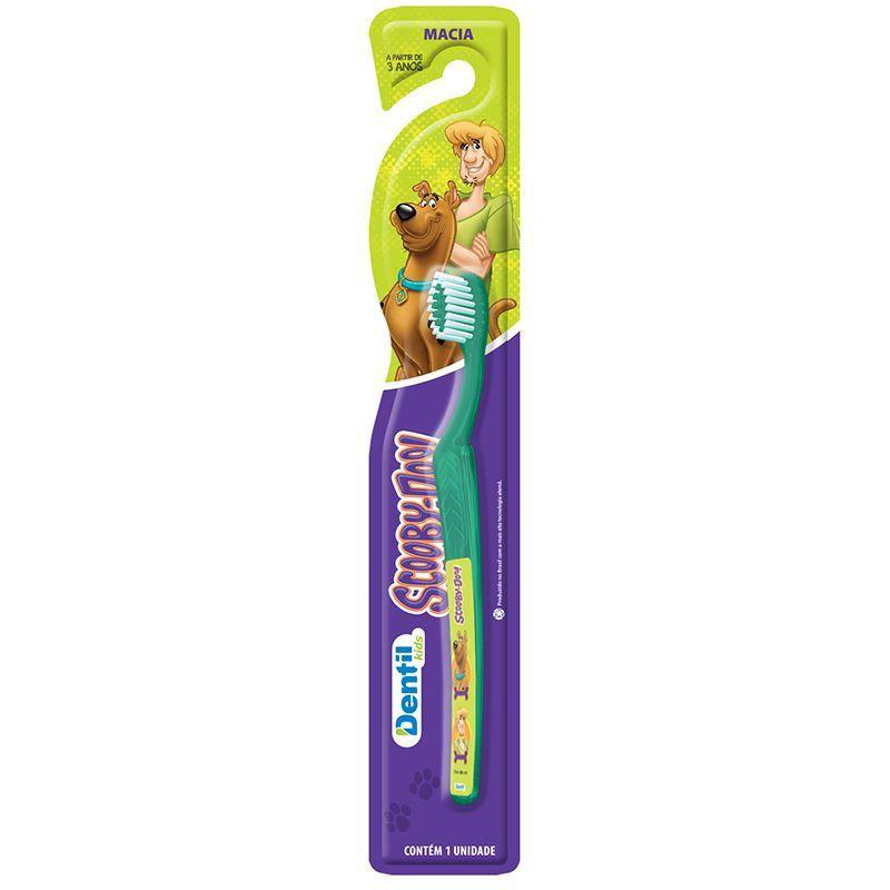 Escova Dental Dentil Scooby-Doo ( possui cerdas macias, cor verde )
