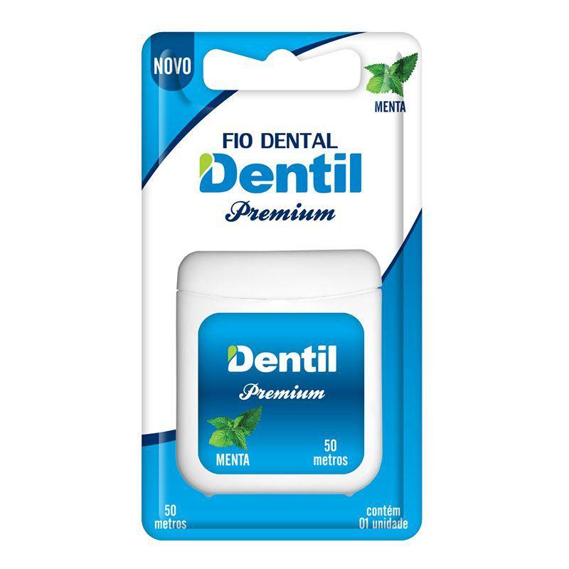 Fio Dental Dentil Premium 50m ( Com um agradável sabor de menta )