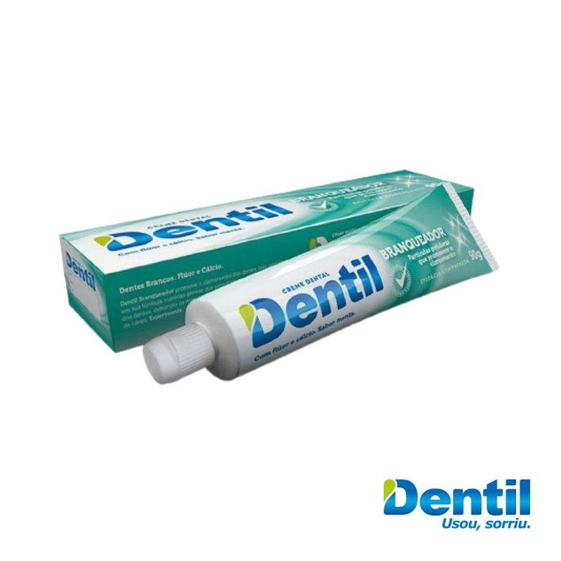 Creme Dental Dentil Menta c/ Flúor 90g (branqueamento dos dentes)